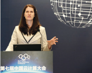 Claudia Lehmann als Keynote Speaker bei der 7th China Cloud Computing Conference in Peking 2015 (Vortrag: Status of Industry 4.0 in Germany)