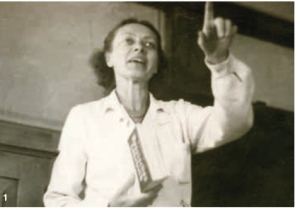 Ingrid von Reyher beim Unterricht, 1962