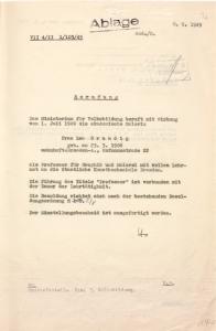 Berufung von Lea Grundig an die Staatliche Kunst- hochschule Dresden durch Minister Helmut Holtzhauer, Ministerium für Volksbildung im Land Sachsen, 8. September 1949