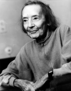 Gret Palucca im hohen Alter, 1988