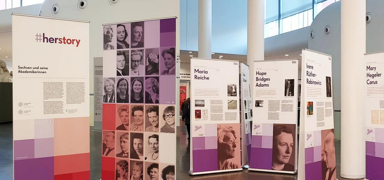 #herstory im Neuen Augusteum der Universität Leipzig. Umfangreiche Informationen unter http://www.herstory-sachsen.de/!